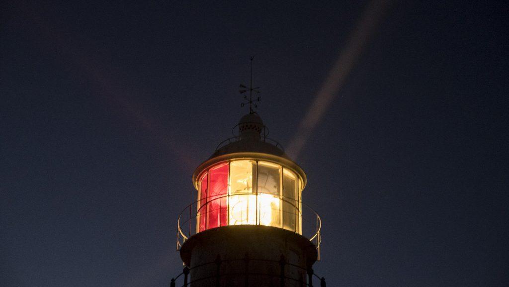 Faro Corrubedo de Noche